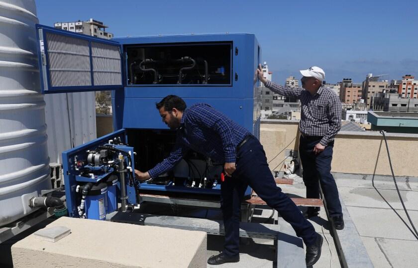 Israel Palestinians Gaza Water