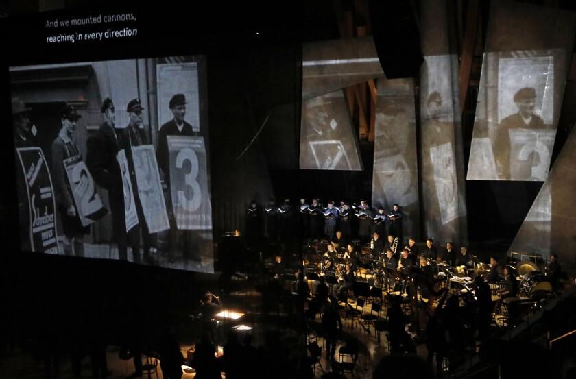 "The L.A. Phil and the Los Angeles Master Chorale perform ""Berlin Requiem."""