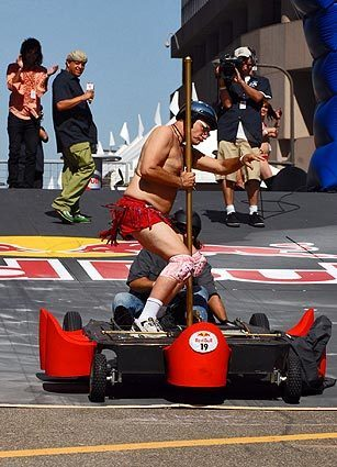 Team Pole Position from the Santa Clarita Valley is one of 40 teams registered to participate in the in the Red Bull Soapbox Race in downtown Los Angeles.