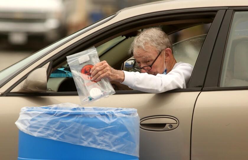 Drive-through site for coronavirus testing