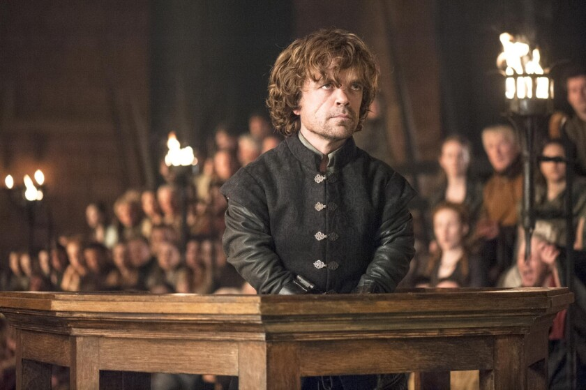 """Peter Dinklage plays Tyrion Lannister in HBO's """"Game of Thrones."""" The IMAX screenings of two episodes have been delayed until Jan. 29."""