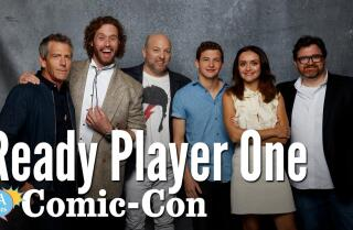 "Watch: The cast and writers of ""Ready Player One"" talk Easter eggs and Spielberg's nerd cred at Comic Con"