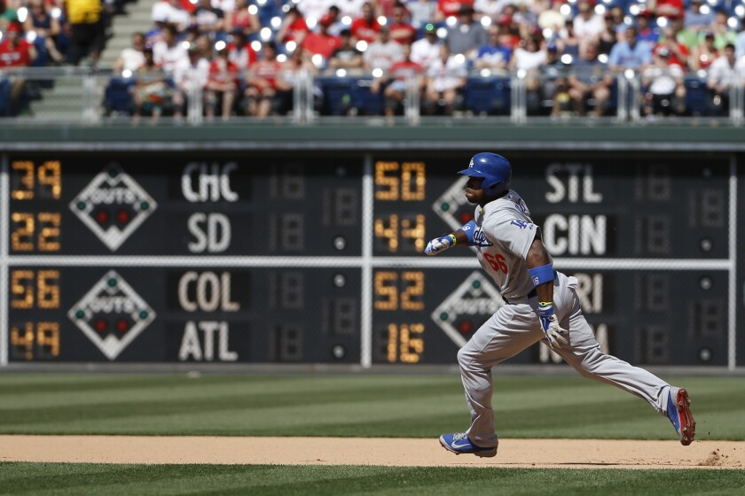 In May, Yasiel Puig led all major leaguers in average (.398, 43 for 108) and on-base percentage (.492). He also led the NL in RBIs (25), slugging percentage (.731) and extra-base hits (19).