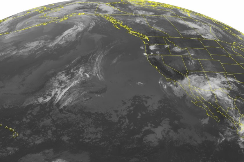 Tropical Storm Blanca is moving due north, producing areas of rain in Southern California.