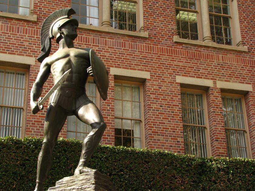 USC's Tommy Trojan masco