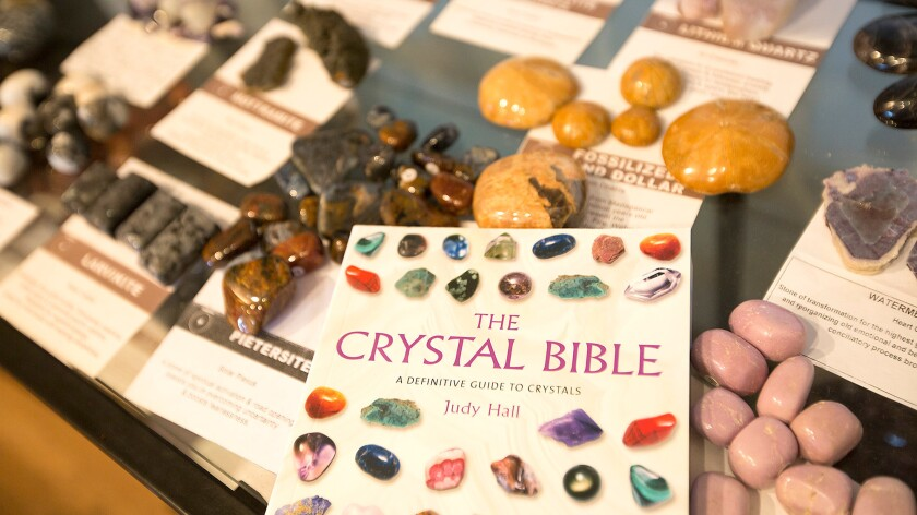 Crystals are among the most profitable of products at New Age shops.