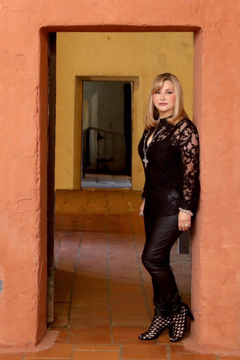Author Connie Spenuzza at the Mission San Juan Capistrano