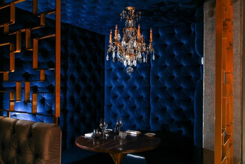 Luxe-glam: at Table 3, a private enclave at Ponsaty's in Rancho Santa Fe.