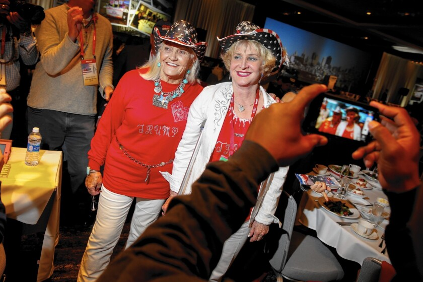 Republicans at the party's California convention last week in Burlingame.