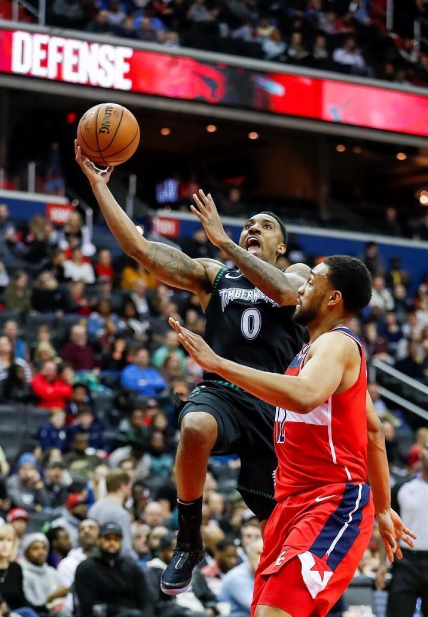 El ala-pívot Bobby Portis aportó un doble-doble de 26 puntos y 12 rebotes que lo dejaron al frente del ataque ganador de los Wizards de Washington que se impusieron por 135-121 a los Timberwolves de Minnesota, en duelo de equipos perdedores y sin posibilidades de estar en los playoffs. EFE