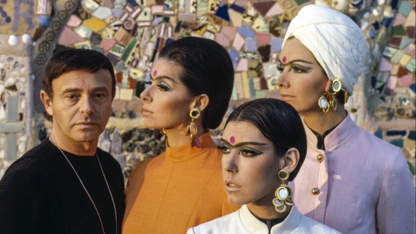 Gernreich with models at Watts Tower, Los Angeles, 1965. A look at designer Rudi Gernreich (1922-198