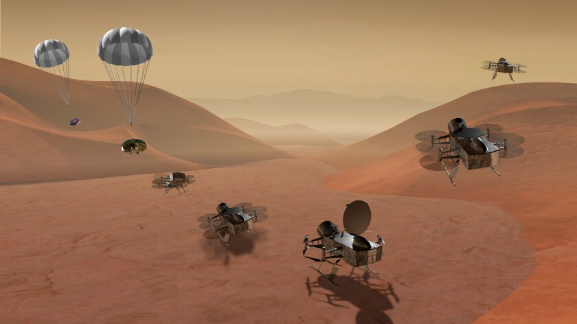NASA Dragonfly mission to Titan