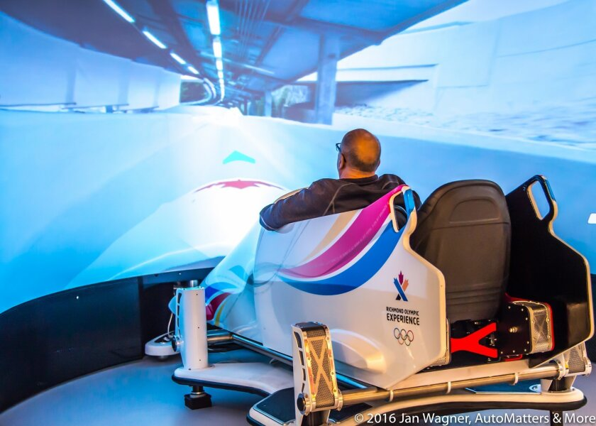 Exciting bobsleigh simulator at Richmond Olympic Experience