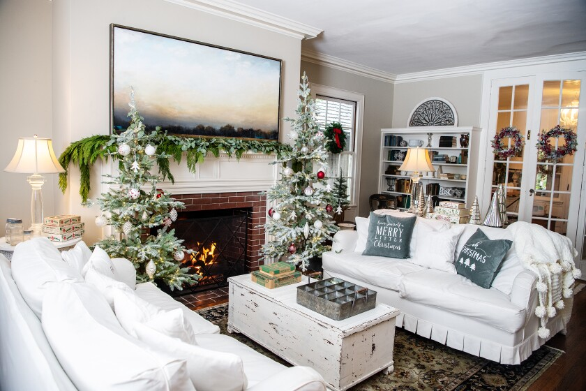 Every year, Saeta transforms her South Pasadena home in to a Winter Wonderland ... in October.