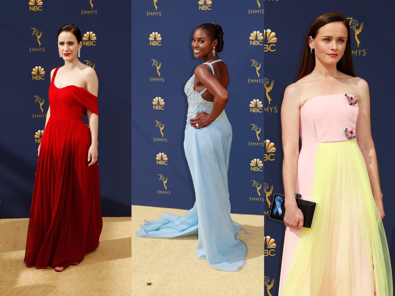 Red carpet looks: Stay with us as we list the best and worst dressed at the 2018 Emmys.