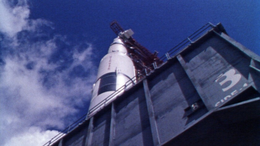 """The Saturn V rollout to the launch pad as featured in the documentary """"Fight for Space."""""""