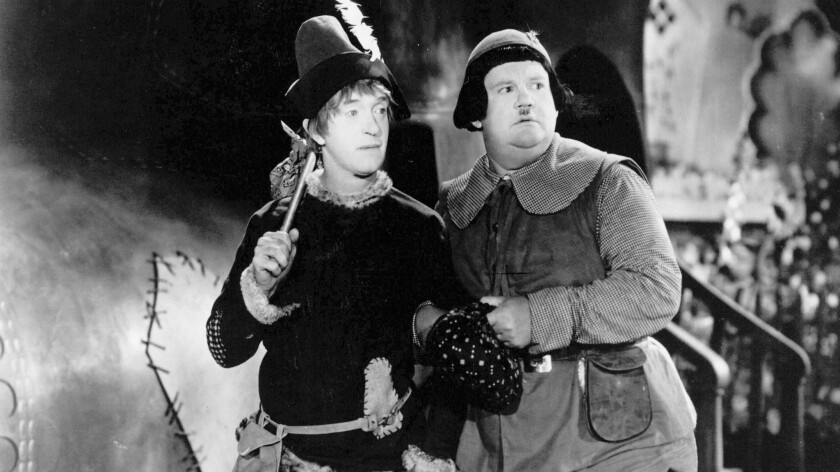 """Stan Laurel and Oliver Hardy in """"Babes in Toyland."""""""