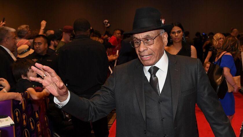 Former NHL player Willie O'Ree arrives to the 2018 NHL Awards last week in Las Vegas. O'Ree played for the San Diego Gulls of the Western Hockey League in the 1960s and '70s.