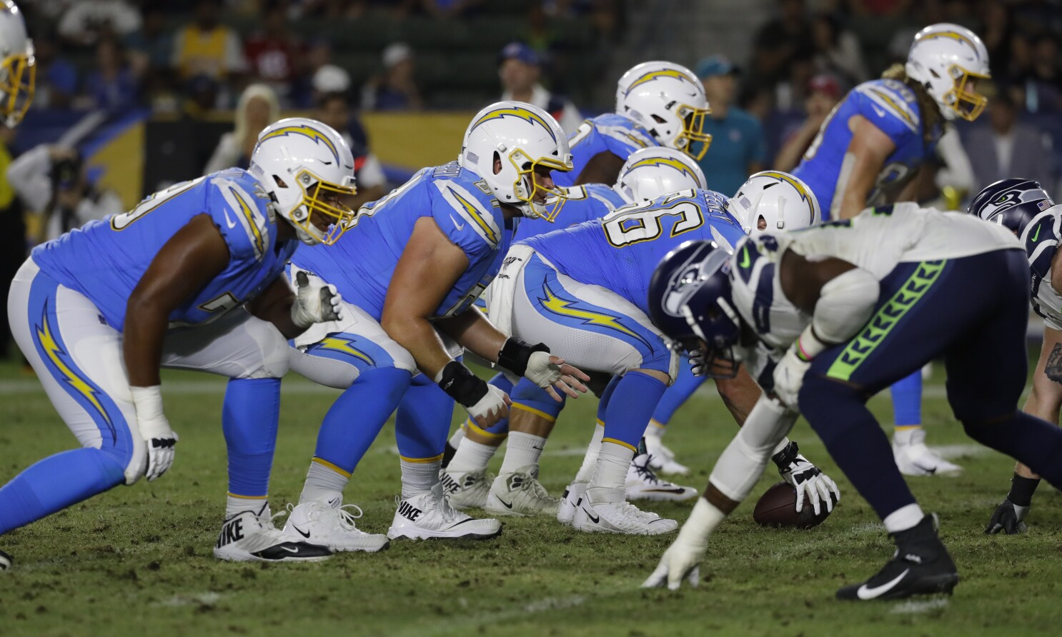 Chargers' struggles along the offensive line among Anthony Lynn's biggest concerns