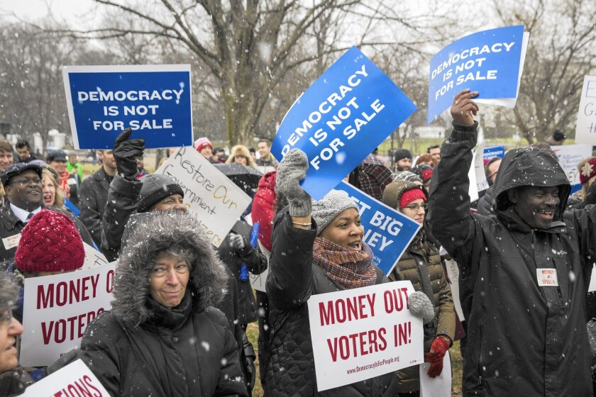 Protest marks anniversary of Citizens United ruling