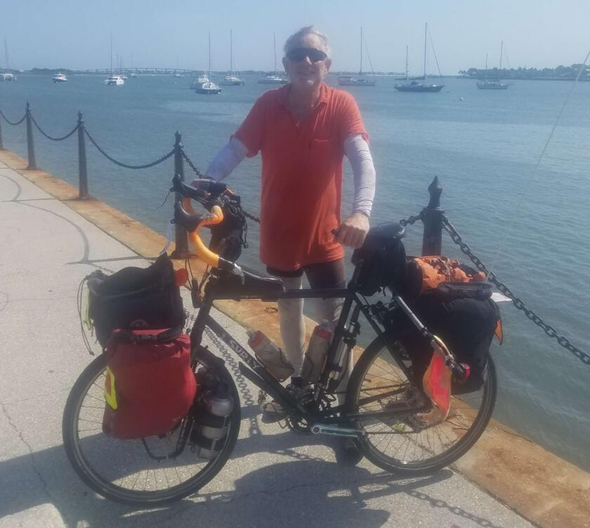 Stanger in Florida at the end of his journey.