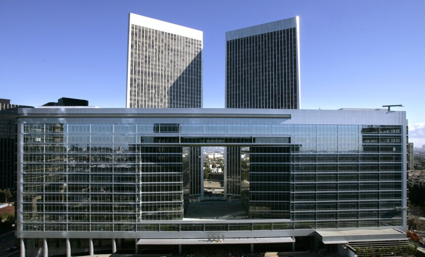 CAA has a reputation for a buttoned-down culture reinforced by its gleaming headquarters at 2000 Avenue of the Stars, shown above in 2006 before it was opened.