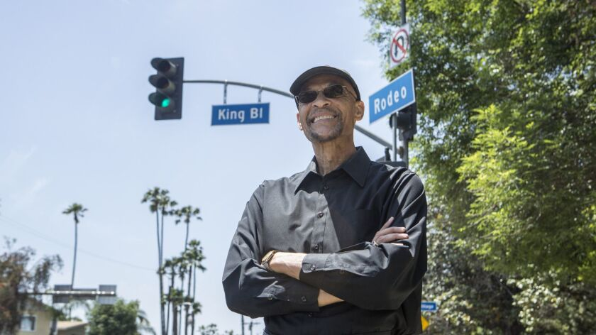 LOS ANGELES, CA - MAY 3, 2019: Earl Ofari Hutchinson is photographed at the intersection of Rodeo Ro