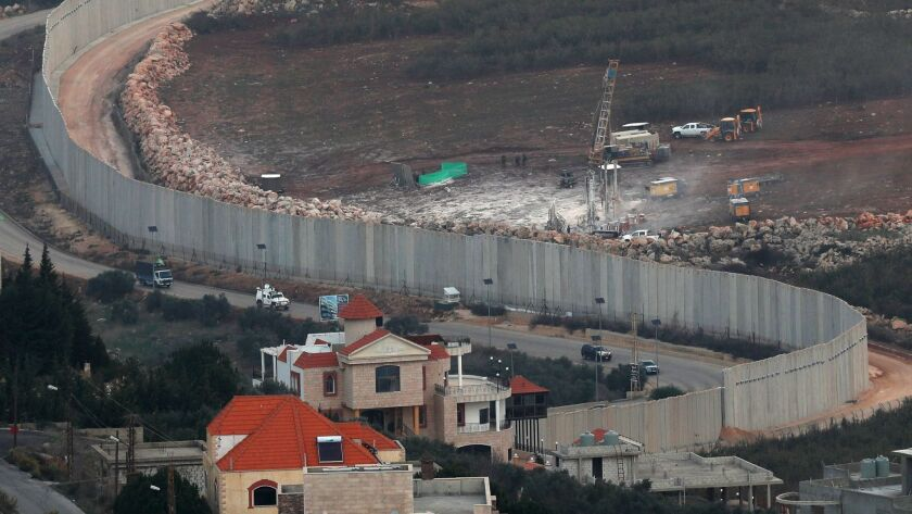 "The Israeli army said it found an ""attack tunnel"" connecting the Lebanese border town of Kafr Kela to Israel."