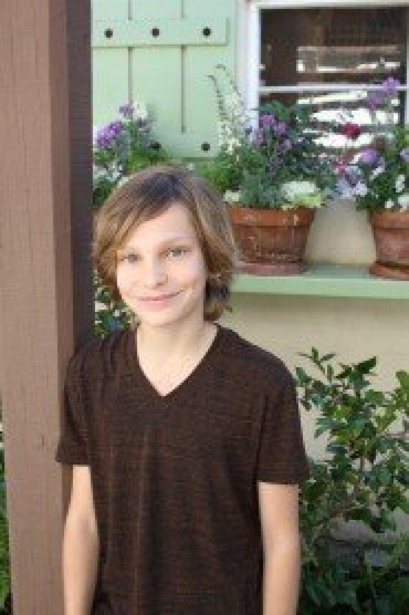 """Rancho Santa Fe's Cameron Lee-Bellows plays Colin in the California Youth Conservancy's """"The Secret Garden. Photo/Karen Billing"""