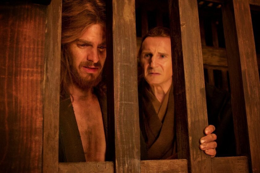 "Andrew Garfield and Liam Neeson in ""Silence."""