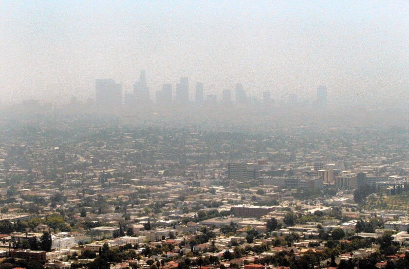 The chemicals that cause smog can be directly linked to the brown air people see, and solutions can be crafted on a local basis. With climate change, there aren't clear smoking guns that can be linked to specific events.