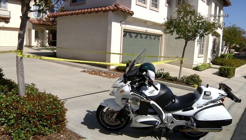 A man was killed in a deputy-involved shooting in Rancho Santa Margarita on Tuesday afternoon, officials say.
