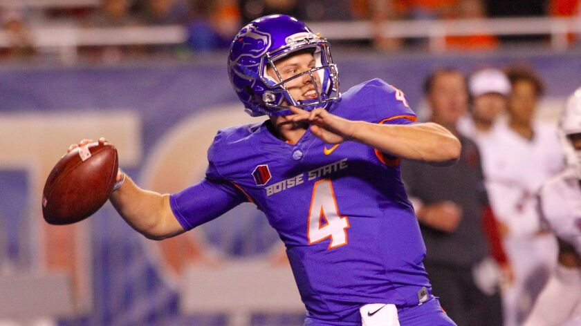 Boise State quarterback Brett Rypien has helped the Broncos to a 4-0 start and No. 19 ranking in the nation this season.