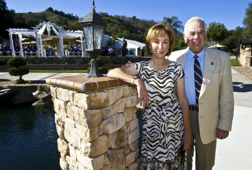 Cathie and Al Ransom are philanthropists who own wedding event venues in Fallbrook and Oceanside. On Valentine's Day, they hosted (for the third year in a row) a free dream wedding for Jorge Ortiz, who lost both legs to an IED blast in Afghanistan.