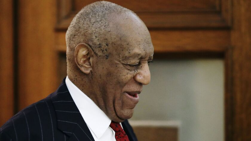 Bill Cosby leaves court Friday in Norristown, Pa.