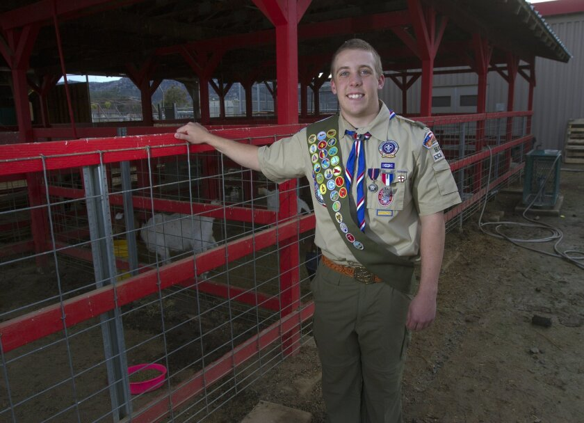 Adam Graham earned his eagle scout rank by completely rebuilding the dilapidated animal pens at Hemet High School.
