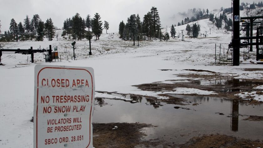 A hiker died in the San Bernardino National Forest over the weekend. Pictured is a ski area of the forest.