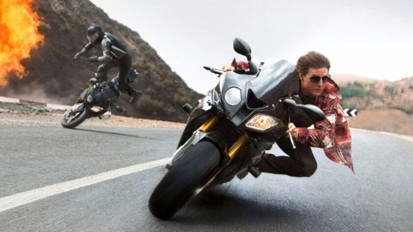 """Tom Cruise in """"Mission: Impossible — Rogue Nation."""""""