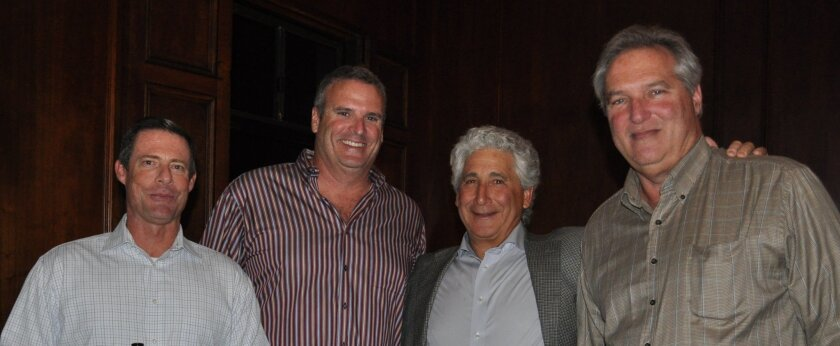 John Fitzsimmons, Mike Wintringer, LJYS president Fred Borrelli and Guy Stone