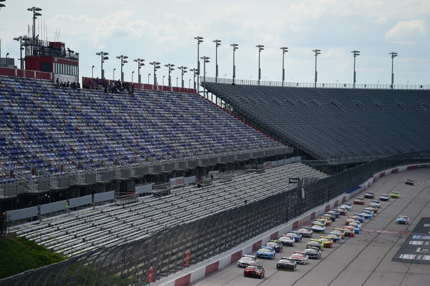 Empty grandstands at Darlington