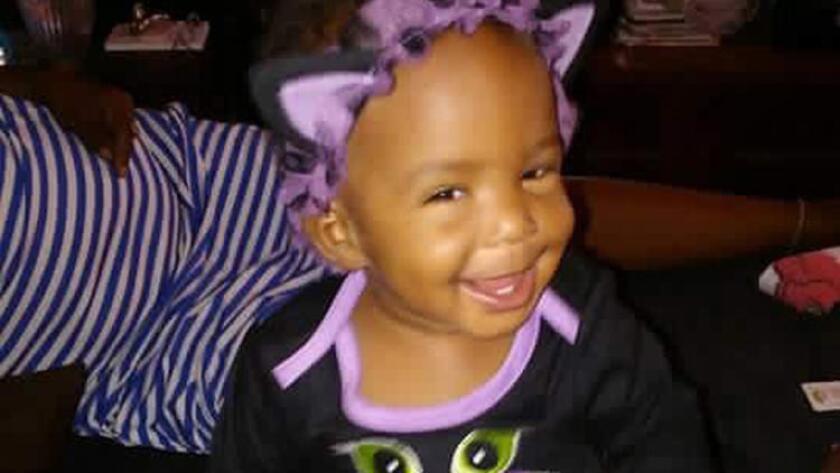 Autumn Johnson, de 1 año, fue asesinada en su casa de Compton el 9 de febrero.