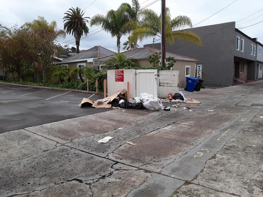 Back on Nov. 18, 2018, I sent another photo of this same sad situation to La Jolla Light, depicting this same dumpster so neglected.