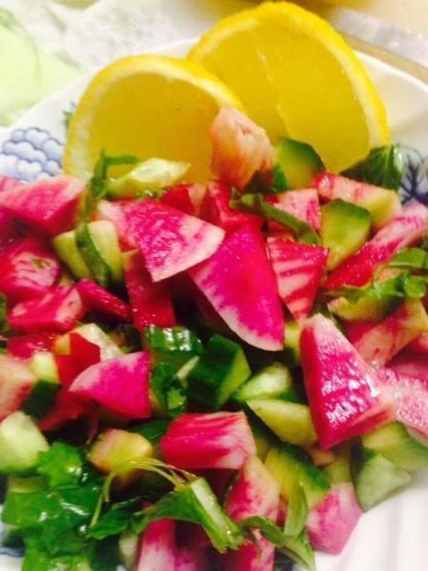 Watermelon Radish Relish