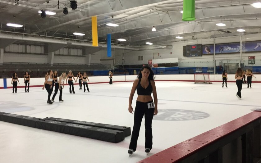 The Gulls held auditions for ice girls on Saturday afternoon at the San Diego Ice Arena in Mira Mesa.