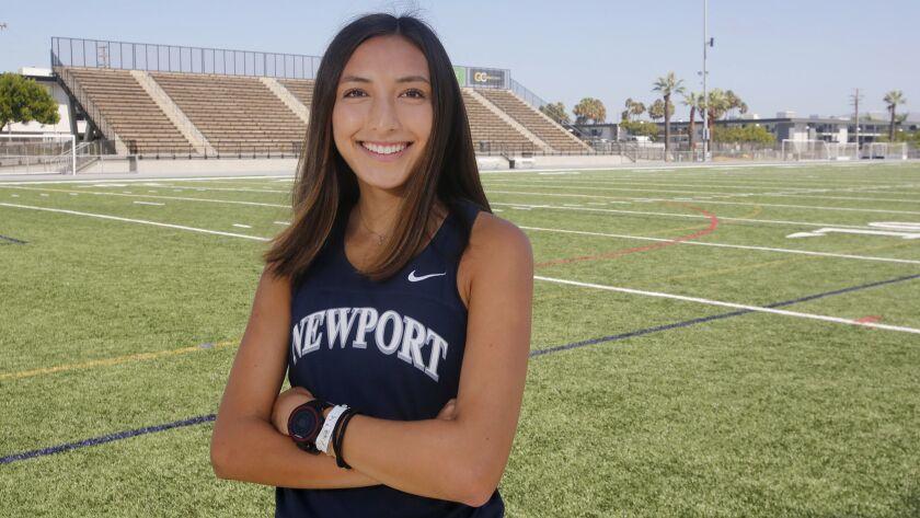 Newport Harbor senior cross-country runner Mia Matsunami, won the Division 3 girls' senior race in t