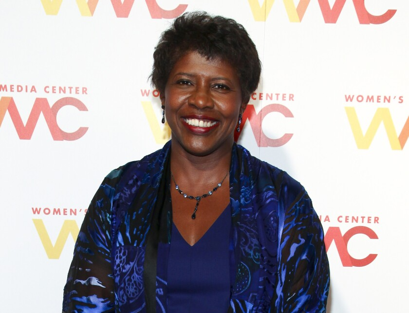 """""""PBS NewsHour"""" co-anchor Gwen Ifill is shown at the Women's Media Awards in New York on Nov. 5, 2015."""