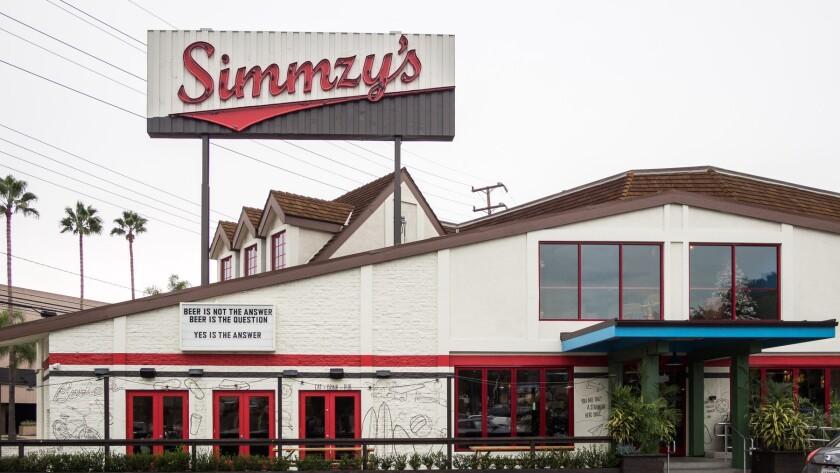 Simmzy's in Burbank.