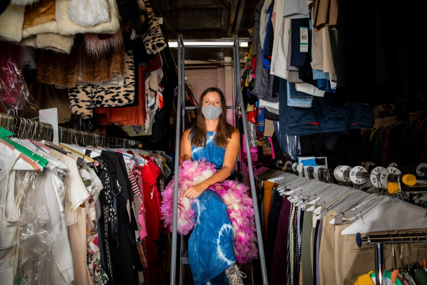Wardrobe stylist Lindsey Clough, who works primarily on commercials, at Cargo Costume in Los Angeles.