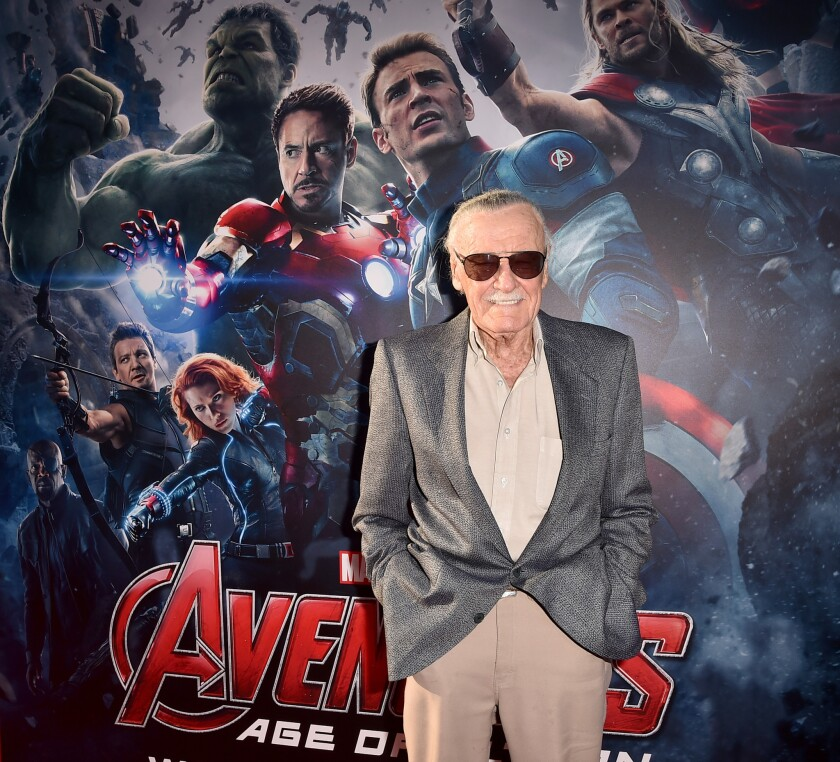 """Stan Lee attends the premiere of Marvel's """"Avengers: Age Of Ultron"""" at Dolby Theatre in Hollywood on April 13."""