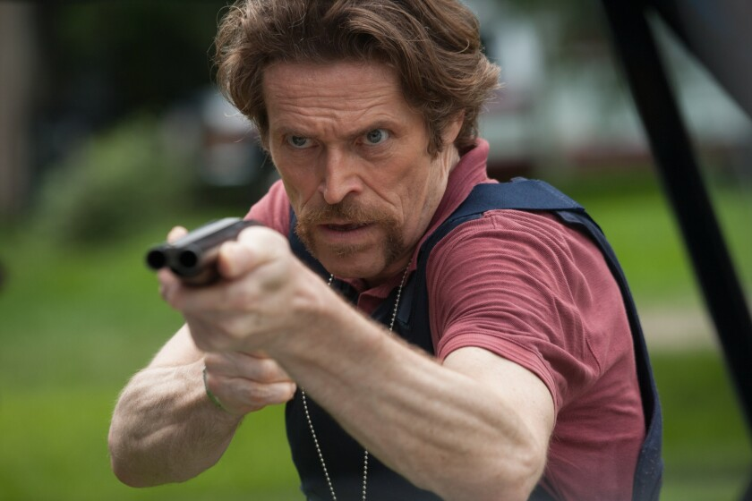 "Willem Dafoe in ""Bad Country."""